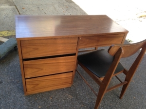 mid century desk and chair
