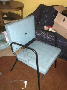mid century blue chair 2