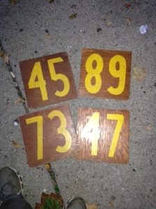NUMBERS ON WOOD