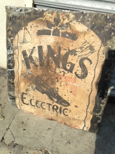 OLD METAL SIGN