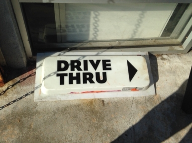 DRIVE THU SIGN