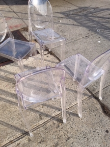 CLEAR LUCITE CHAIRS