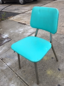 MID CENTURY BLUE CHAIR
