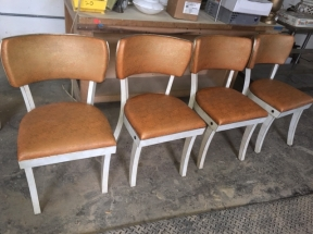 4 VYNYL CHAIRS