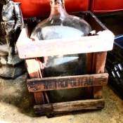 GLASS FIVE GALLON BOTTLE