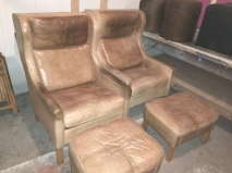 LEATHER CLUB CHAIRS