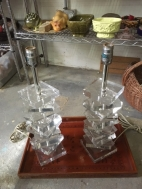 LUCITE LAMPS
