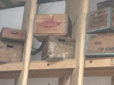 WOOD BOXES MILK