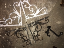 ANTIQUE SHELF BRACKETS