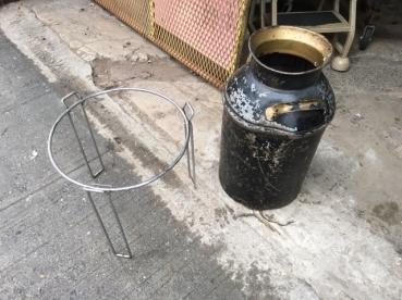 MID CENTURY GLASS TABLE