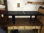 WOOD SLAT COFFEE TABLE
