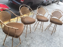 BAR STOOLS FAUX WICKER
