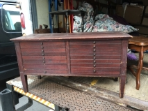 ANTIQUE DRAWER COFFEE TABLE BENCH