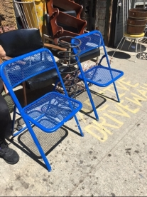 BLUE FOLDING CHAIRS