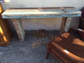 RECLAIMED WOOD ENTRANCE TABLE