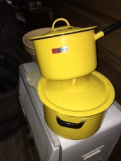 YELLOW ENAMELWARE