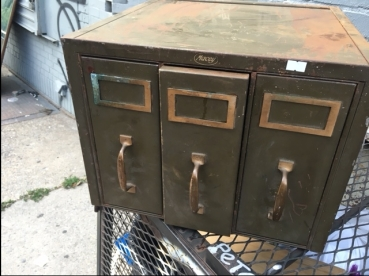 GREEN FILE CABINET