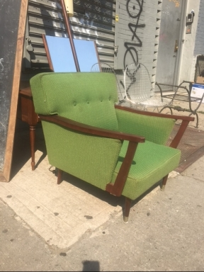 GREEN MID CENTURY CHAIR 2