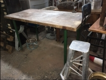 INDUSTRIAL BUTCHER BLOCK TABLE 2
