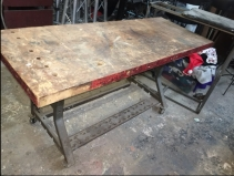 INDUSTRIAL BUTCHER BLOCK TABLE 3