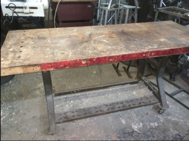 INDUSTRIAL BUTCHER BLOCK TABLE 33