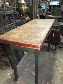 INDUSTRIAL BUTCHER BLOCK TABLE B