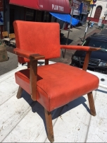 MID CENTURY CHAIRS ORANGE