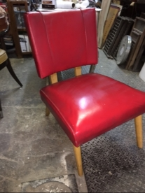 MID CENTURY RED CHAIR