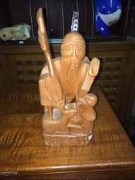 WOOD CARVED STATUE