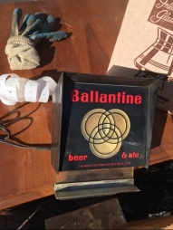 BALLANTINE BEER SIGN