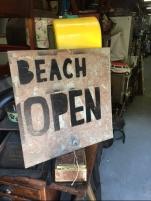 BEACH OPEN SIGN