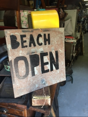 BEACH OPEN SIGN