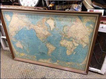 FRAMED 1960'S MAP