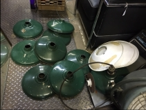 INDUSTRIAL GREEN LAMPS