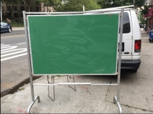 LARGE SELF STANDING CHALK BOARD