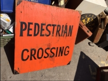 PEDESTRIAL CROSSING SIGN