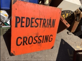 PEDESTRIAL CROSSING SIGN