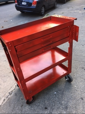 RED METAL CART
