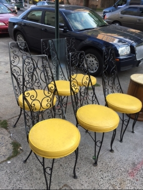 six-yellow-chairs