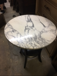round-marble-top