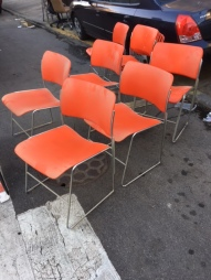mid-century-orange-chairs