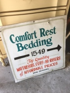 BEDDING METAL SIGN