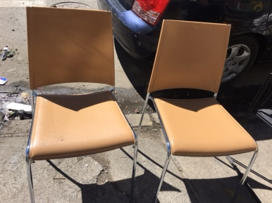 ITALIAN LEATHER CHAIRS