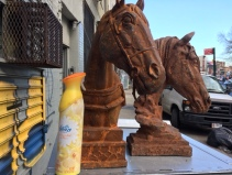LARGE CAST IRON HORSES 2