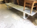 METAL BENCH 8 FEET X18 INCH DEEP X 16 HIGH