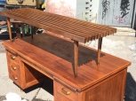 MID CENTURY MODERN DESK AND GEORGE NELSON BENCH