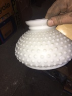 MILK GLASS SHADE COVER