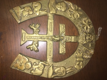 SPANISH HORSESHOE RELIGIOUS PIECE