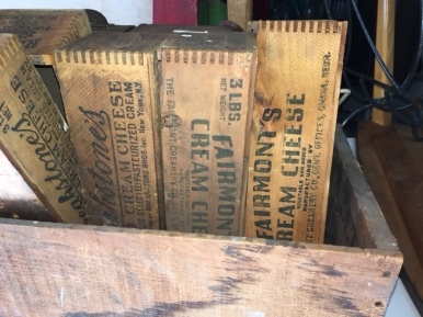 VINTAGE WOOD COTTAGE CHEESE BOXES