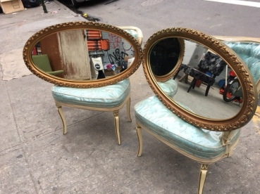 GOLD GUILDED OVAL MIRRORS
